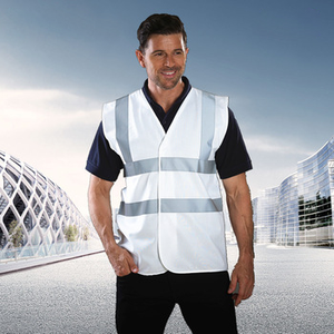 OEM White Safety Vest High Quality Cheap Coats High Visibility Reflective Vest Work Wear Vests
