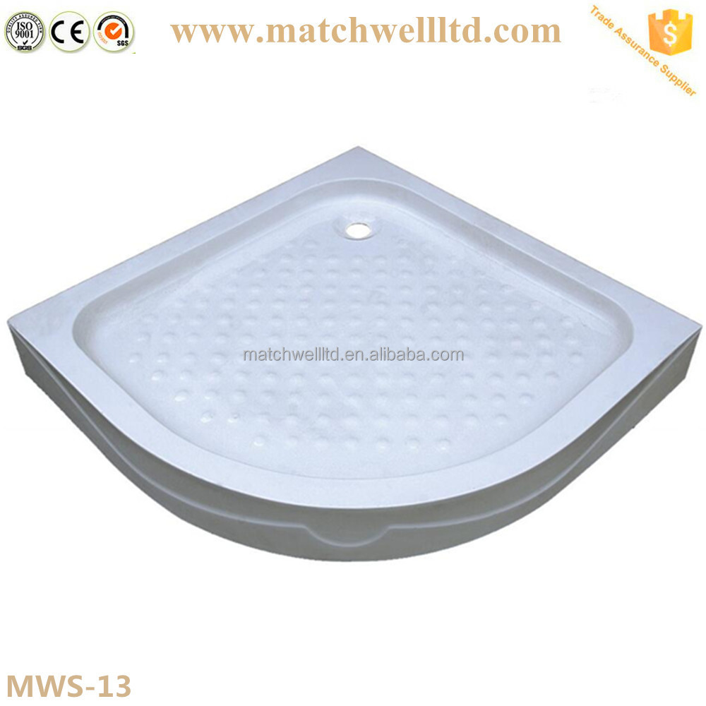 sell round costom deep acrylic and abs shower base