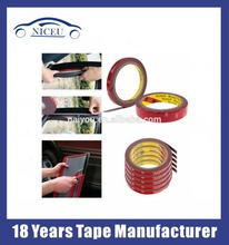 High temperature 3m double sided tape exterior use