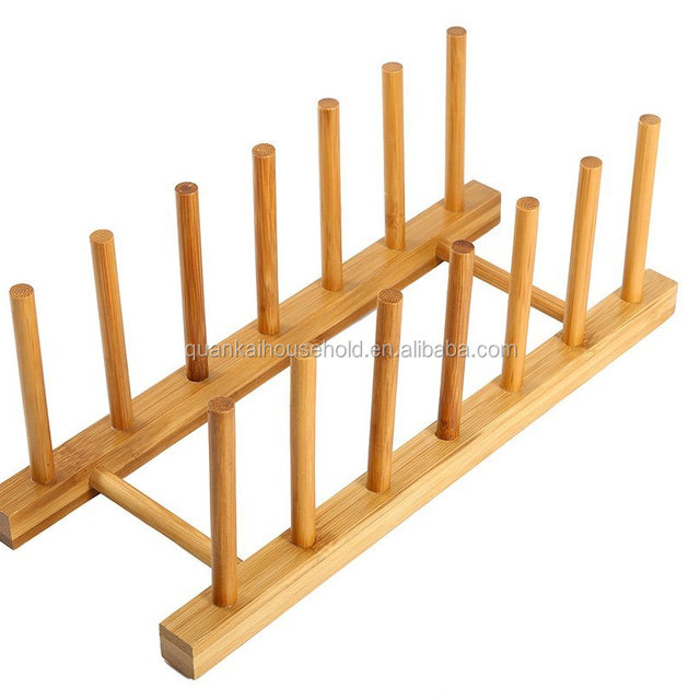 Bamboo Plate Rack For Cabinet Compact dish Drying Rack Kitchen Storage Holder Stand for Dish /  sc 1 st  Alibaba & China Standing Plate Holder Wholesale 🇨🇳 - Alibaba