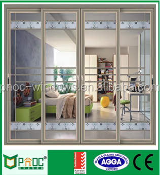 Hot Sale Professional Lower Price Aluminum double sided mirror sliding door
