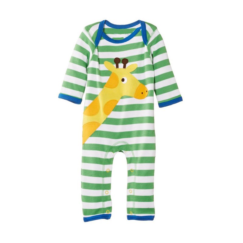 summer new newborn baby rompers clothing cartoon cotton stripe girls deer lion dog one-pieces jumpsuits baby boys clothes
