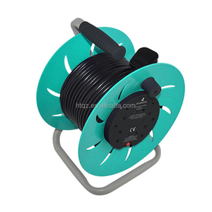 Mini electrical cable reel stands,100m extension cable