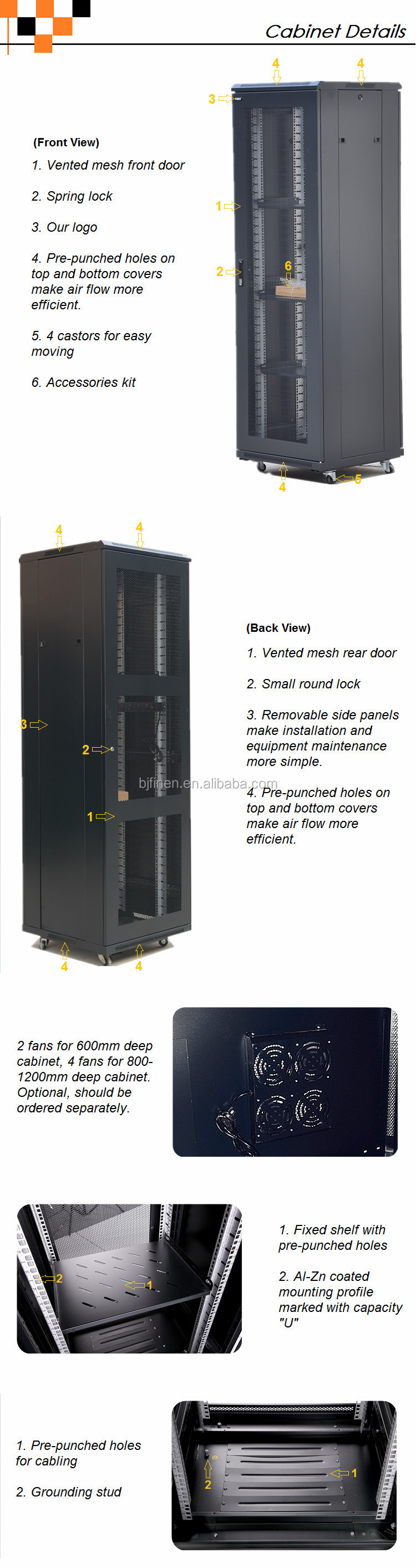 cabinet open dp server rack com post electronics amazon