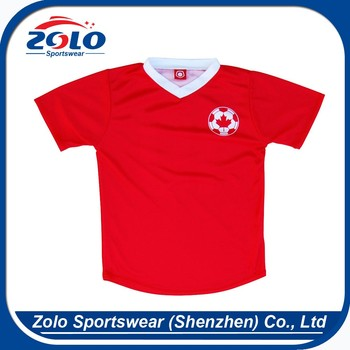 Wholesale cheap price full red make your own football shirt
