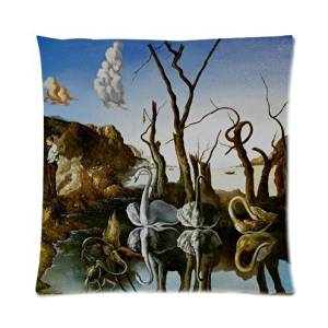 Custom Salvador Dali Art Work,World Famous Painting Throw Pillow Case Cushion Cover 16x16 Inch - Twin Sides Printing