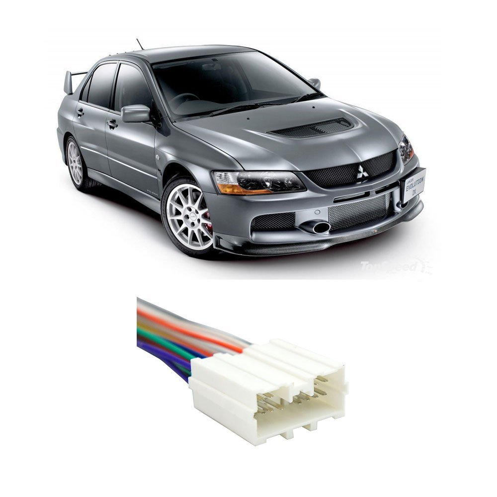 Mitsubishi Lancer 2002-2007 Factory Stereo to Aftermarket Radio Harness Adapter