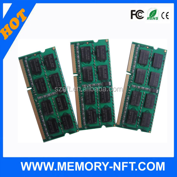 Full compatible FCC CE RoH ram memory laptop 4gb pc3-10600 cl9 non ecc