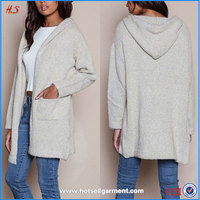 Chinese clothing supplier women hooded cardigan coat winter warm coat