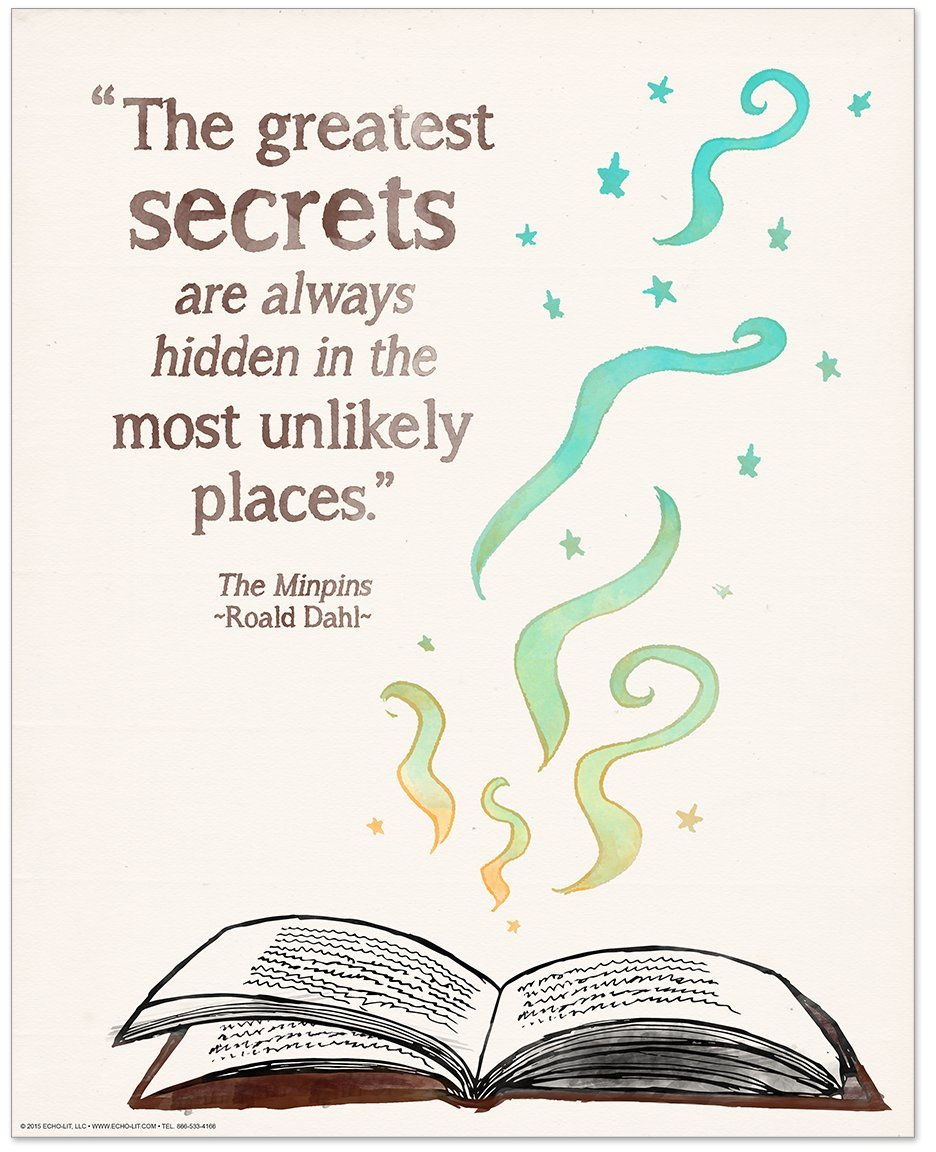 get quotations the greatest secrets childrens literature inspirational quote poster for home classroom or library featuring a