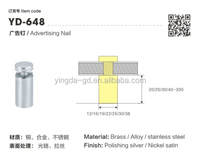 Sign Standoff/standoff Fixing/round Decorative Nut Spacer For ...