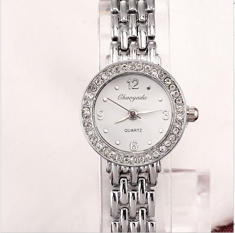 2015 New Brand Luxury Rhinestone Women Quartz Watches Clock female Fashion Mujer reloj ladies bracelet watches Relogio Feminino