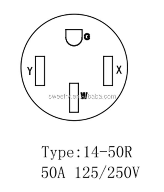 Gap43050 Us Rv Generator Adapter Plug 4 Prong 30a L14 30p Locking