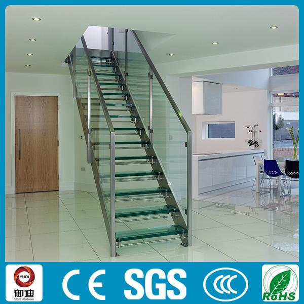 Panel de vidrio templado escaleras escalera de cristal - Precio del vidrio ...
