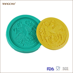2pcs/Set Hot Sell Silicone Molds Phoenix &DragonShape Silicone Fondant Cake Decoration Mold Kit Tools