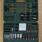 62pcs/Set Universal Gun Cleaning Kit in blow molding plastic case with brass jag