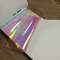 Iridescent Glass-looking Dichroic PET Rainbow Film/iridescent plastic film/pet rainbow film
