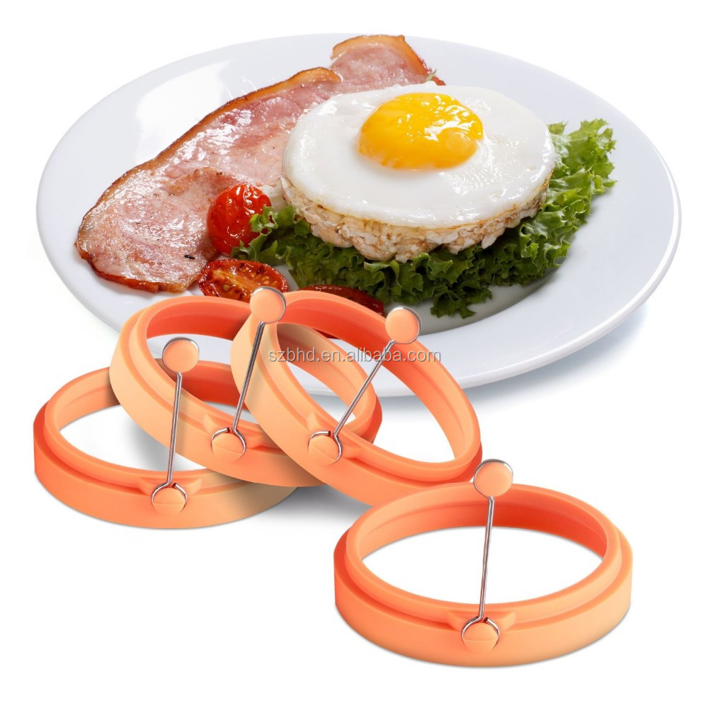 New Arrival Custom Heat Resistant Animal Shape Silicone Egg Frying Ring , Silicone Egg Former