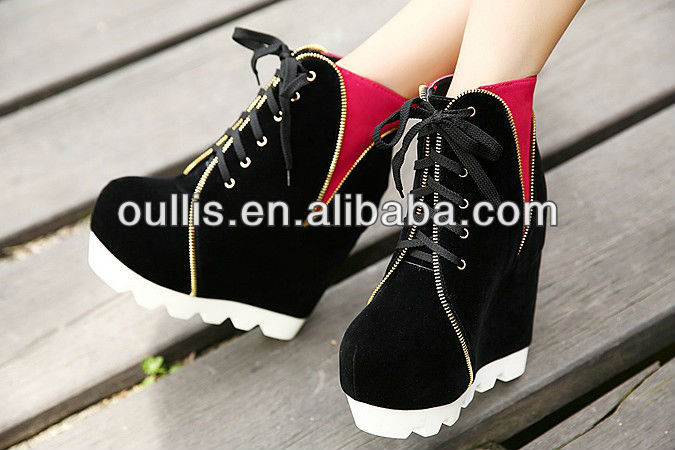 wholesale women boots casual wedges boots PQ2666