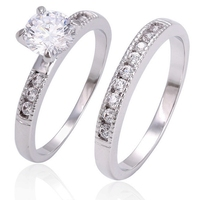 13482 Xuping white gold ring design for couples, couple ring saudi arabia white gold wedding ring price, shining jewelry