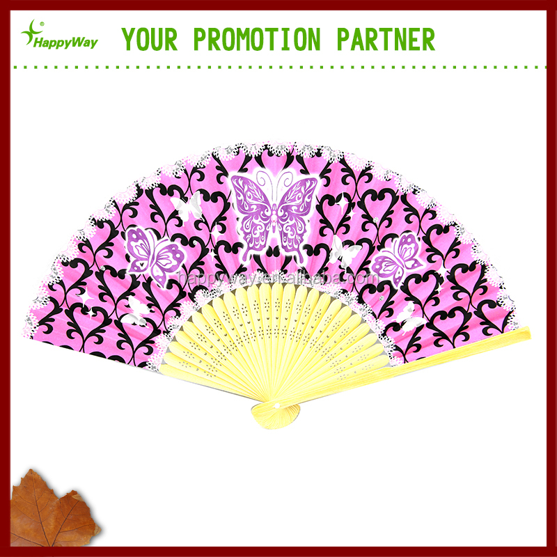 High quality Chinese personalized folding hand fan,gift bamboo carved paper hand fan for sale