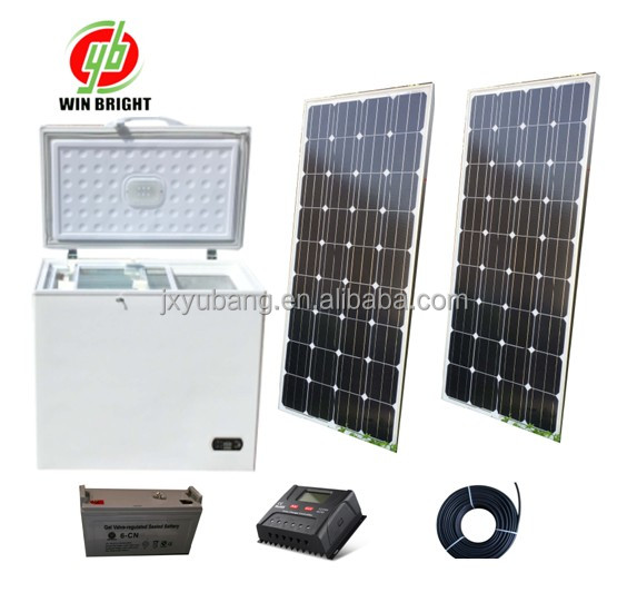 Solar power freezer 200L DC 12V (100% Powered by solar energy)
