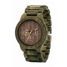 Wholesale oem bamboo wood band men brand watch factory china