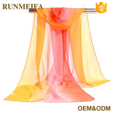 2017 China Wholesale Spring Summer 100% Silk Women Chiffon Scarves And Shawls