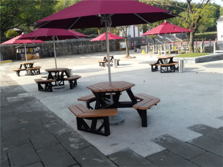 Factory plastic modern outdoor furniture