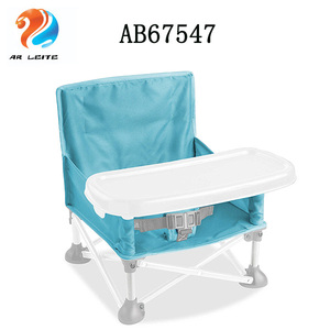 Portable easy moving foldable plastic infant dinning feeding baby chair