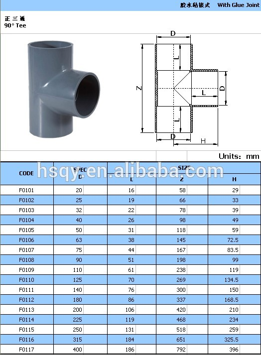 Made in china pvc pipe fittings tee elbow flange coupling