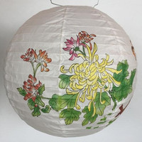Beautiful round paper lanterns with designs for home decoration light