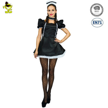 Sexy Women Halloween Costume Cosplay French Maid Lingerie Outfit Fancy Dress  sc 1 st  Alibaba & Sexy Women Halloween Costume Cosplay French Maid Lingerie Outfit ...