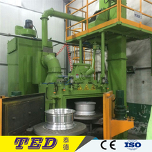 Double turntable Rotary Satellite Table Shot Blasting Machine for cust alloy wheel rims