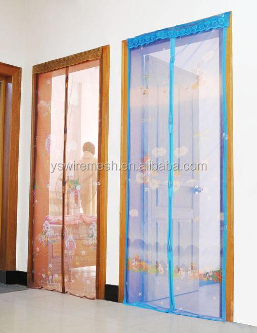 Magnet Door Curtain Fly Screen Self Closing Magnetic Door Hanging Door  Screen Curtain