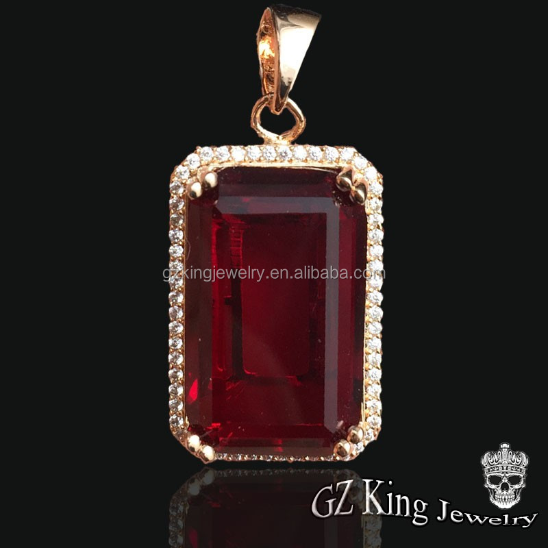 2017 fashion ruby stone jewelry mens micro pave cz rose gold ruby 2017 fashion ruby stone jewelry mens micro pave cz rose gold ruby pendant designs aloadofball Images