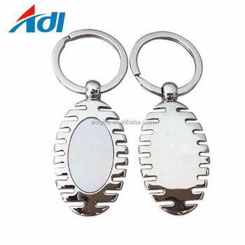Customized High Quality Blank Metal Sublimation Keychain For Sale