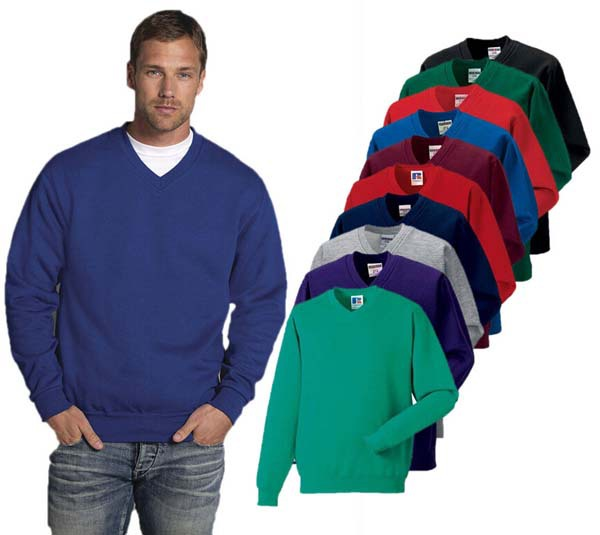 Classic Blank Men's V Neck Fleece Pullover Sweatshirt - Buy V Neck ...