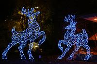 Christmas Ornaments Blue Christmas Deer Outdoor Decoration Light ...