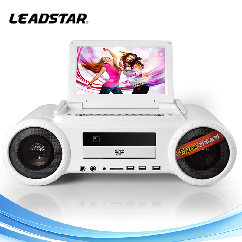 Microphone Supported Portable Karaoke Player with DVD TV USB SD Card Reader