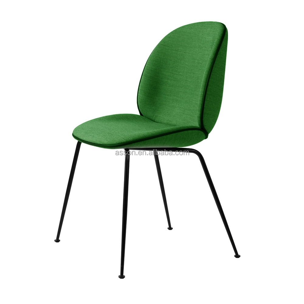 High Quality Cheap Price Black Legs Replica Gubi Beetle Velvet Fabric Dining <strong>Chair</strong>