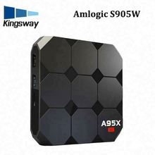 High Speed Supplier Factory 3D Led A95X R2 Amlogic S905W 4 Cores 2+16Gb OTT Tv Box