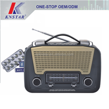 Home FM AM SW1 SW2 radio receiver with LED light and USB player