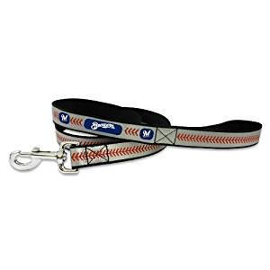 MLB Milwaukee Brewers Baseball Pet Leash, Reflective