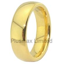 magasin de dtail en ligne de mariage bande pas cher classique or couleur acier inoxydable anneaux - Cout Fleuriste Mariage