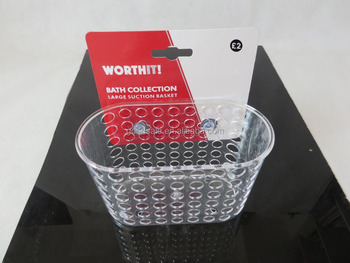 Bathroom Shower Caddy Plastic Hanging Basket With Suction Cup
