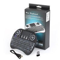2017 hot selling 2.4g wireless i8 rii mini backlit keyboard wireless keyboard for android tv box