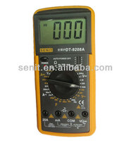 digital multimeter dt9208a manual with hz frequency/temperature test