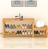 2018 factory make 3 layers cheap solid wood shoe rack