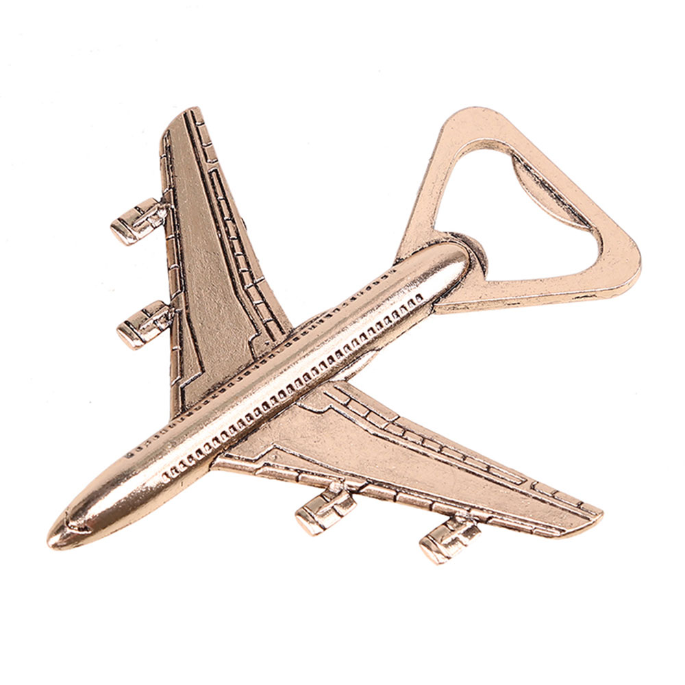 Wholesale creative zinc alloy metal aircraft beer airplane bottle opener